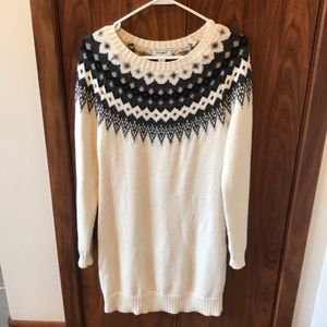 Old navy fair isle sweater dress